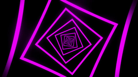 Purple Squares Tunnel VJ Loop Motion Graphic Background Animation