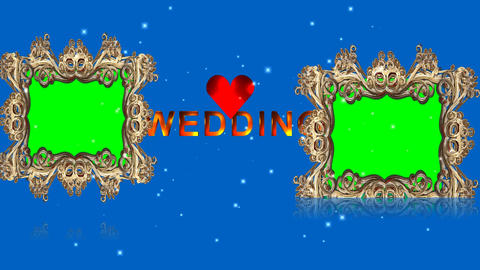 99 COLLECTION Wedding templates on blue screen with green sceen Animation