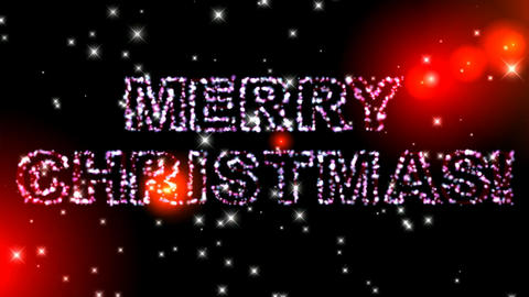105 Animated template greeting with MERRY CHRISTMAS text Animation