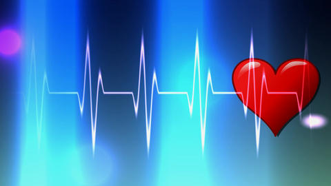 122 Health and MEDICINE theme Cardiogram of heart Animation