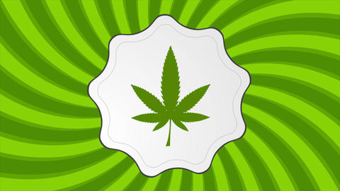 Retro cannabis icon video animation 애니메이션