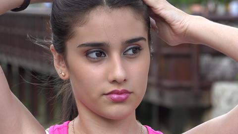 Beautiful And Pretty Teenage Girl Footage