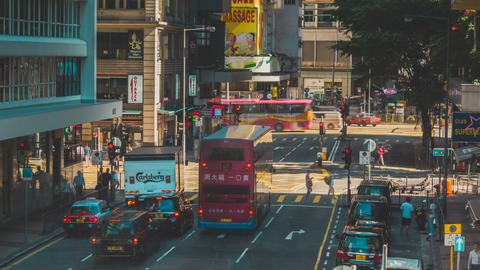 Traffic in Hong Kong Timelapse Footage