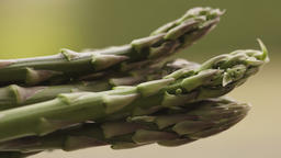 Asparagus extreme close up UHD stock footage Footage