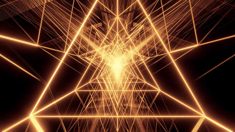 abstract golden triangle wireframe design 3d rendering background wallpaper Animation
