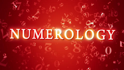 Numerology (secret knowledge about the numbers). Intro template. 3D animation Animation