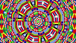 Flags of the world Kaleidoscope Animation