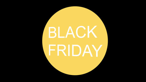 Black Friday text banner on green background modern style transition Animation