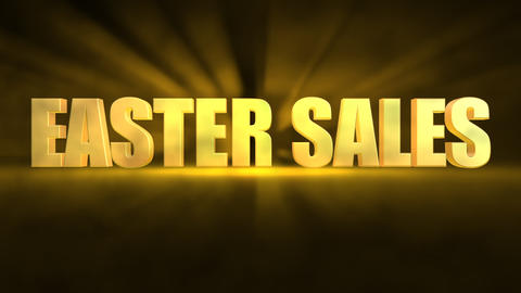 3D Easter sales text animated against abstract background Animation
