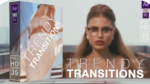 Trendy Transitions After Effects Template