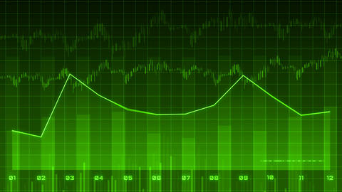 Financial data and diagrams Animation