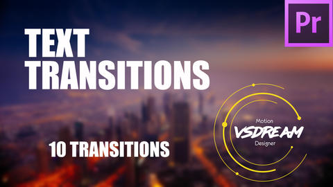 Text Transitions Premiere Pro Template