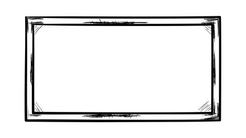 Isolated freehand frame on a white transparent background Animation