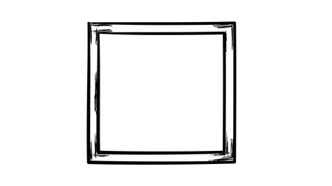 Isolated simple hand-drawn square frame Footage