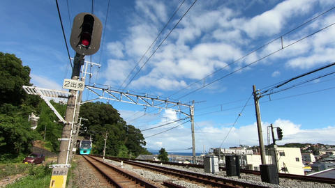 Railway vehicles and traffic lights Live Action