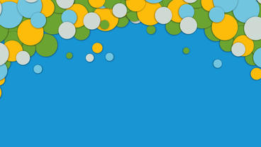 Colorful bubbles or circles animation for intro or titling After Effects Project
