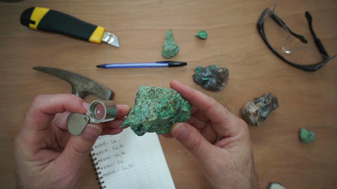 Geologist Perspective Copper Ore Inspection Live Action