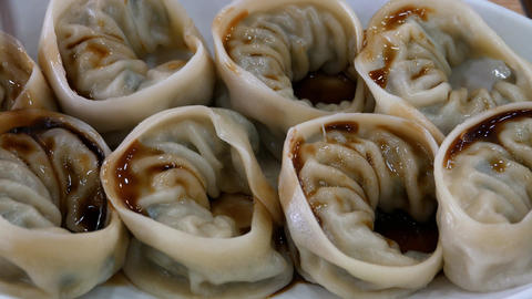 Asian dumplings Footage