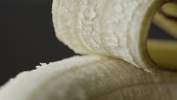 Banana extreme close up HD stock footage. Banana ends in true macro close up for Footage