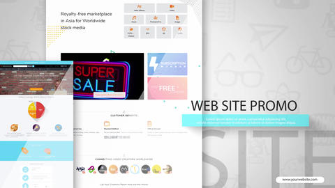 Web Promo After Effects Template