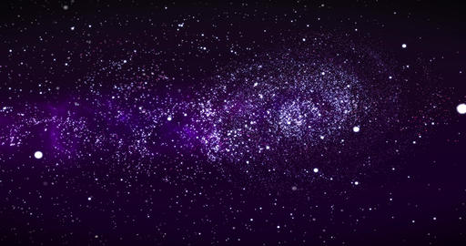 Galaxy in Deep Space. Spiral galaxy, animation of Milky Way. Flying through star Animation