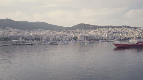 Scenic view of Greece marina harbor in Kavala Live Action