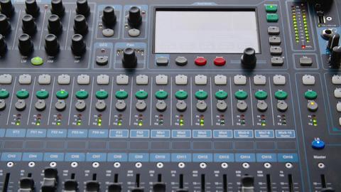 Sound mixer console Live Action