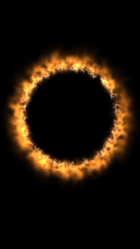 Fiery corona vertical animation with space for copy text. Alpha matte background Animation