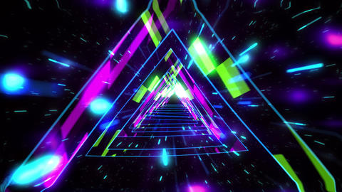 VJ Triangle pathway Tunnel Animation