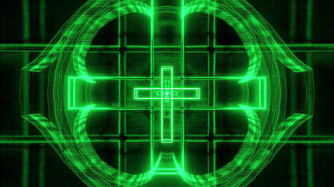 green glowing holy christian cross 3d rendering motion background wallpaper club Animation