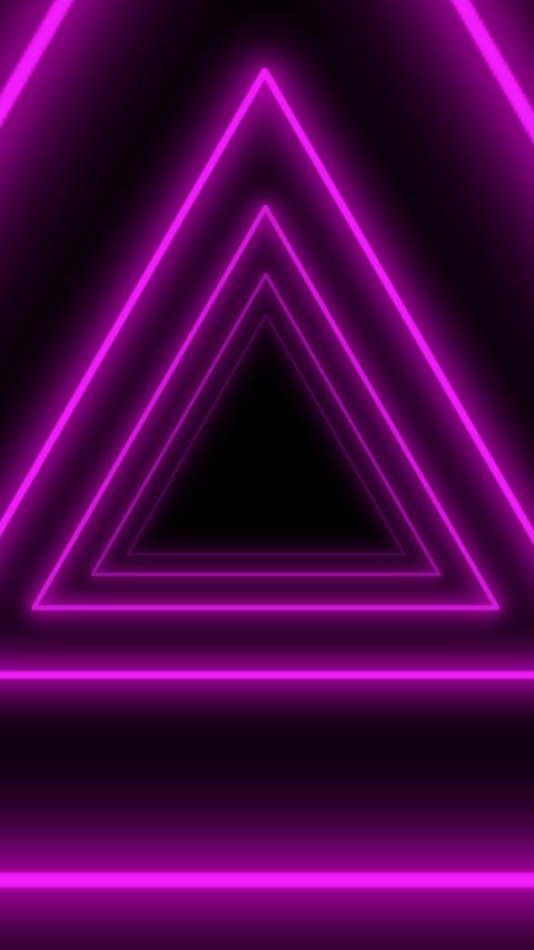 Triangles flight tunnel vertical animation background, seamless loop Animation
