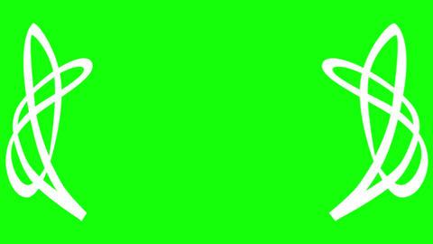 Award Laurel Abstract on Green Screen Animation