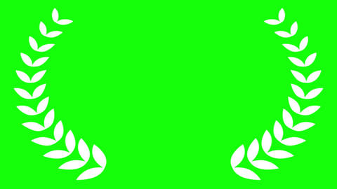 Award Laurel on Green Screen Animation
