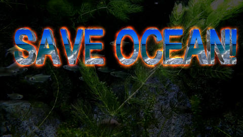 141SAVE OCEAN animated template 2 Animation