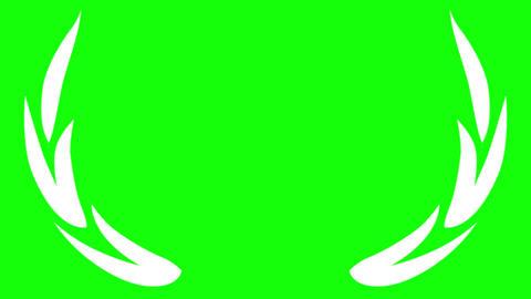 Award Laurel Laurus nobilis on Green Screen Animation