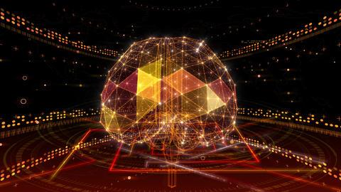 AI, artificial intelligence digital network technologies 19 1 Brain 2 red 4k Animation