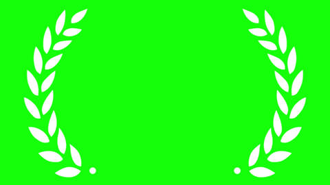 Award Laurel Simplified on Green Screen Animation