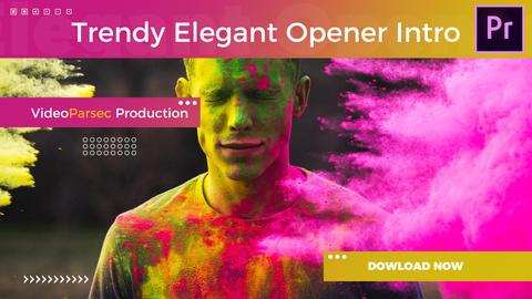 Trendy Opener Intro Premiere Proテンプレート