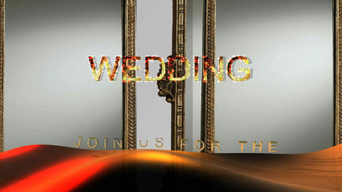 15 3Wedding invitation wirh words Join us fo the Wedding Animation