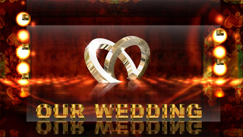 155 WEDDING TEMPLATE two rings joined together Animation