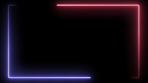 Red and blue Neon Square Background Animation
