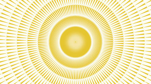 Abstract Yellow Radial background Animation