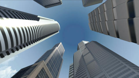 Construction building and make city in animation Animation