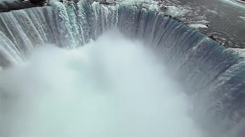 View of Niagara Falls From Height Footage