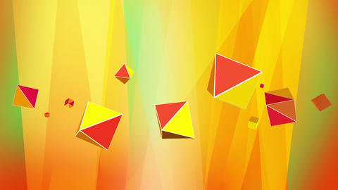 Abstract blue purple background with octahedrons Animation