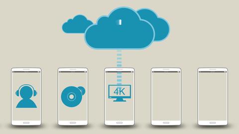 Download application data to cloud concept 2 애니메이션