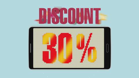 Promotion of Sale, Discount 30%, effective sale alarm.ver 2 Animation