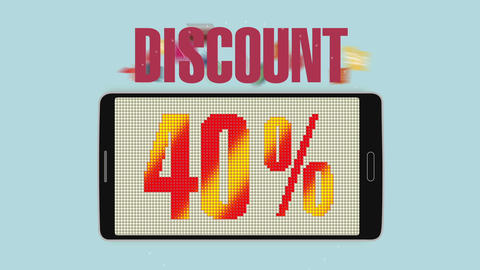 Promotion of Sale, Discount 40%, effective sale alarm.ver 2 Animation