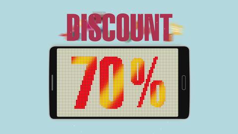 Promotion of Sale, Discount 70%, effective sale alarm.ver 2 Animation