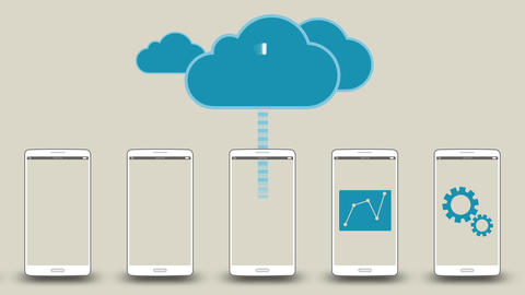 Upload application data to cloud concept 1 애니메이션